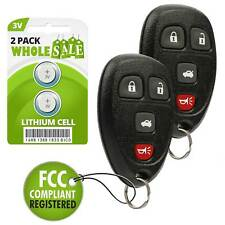 2 Replacement For 2007 2008 2009 Saturn Aura  Key Fob Remote