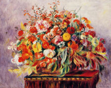 Basket of Flowers by Pierre Auguste Renoir Floral Canvas Print Wall Decor 8x10
