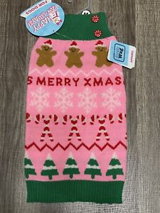 Simply Wag Holiday Ginger Pink Sweater MEDIUM