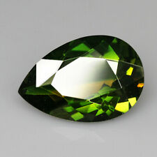 8.8Ct Man Made Bi Color Glass Yellow Green Oval Cut MQYG61