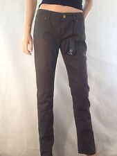 ALEXANDER McQUEEN - McQ Olive Coated Jeans  Size 12 / 28 Designer Bnwt
