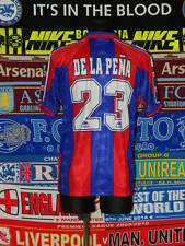 4/5 Barcelona adults XL '95 #23 De la Peña football shirt jersey trikot camiseta