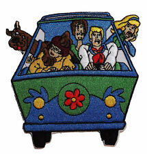 """Scooby-Doo & Gang in Mystery Machine  4"""" Tall Embroidered Patch"""
