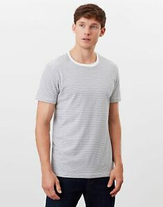 Joules Mens Boathouse Stripe T-Shirt - Cream Navy Stripe