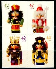 Holiday Nutcrackers Block of 4 REMOUNTED Mint Stamps Scott's 4360 to 4363