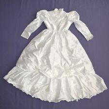 Pearl Necklace on Satin Children Dress 134 Flower Girl Communion Gala Dress