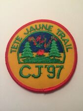 "Vtg Tete Jaune Trail CJ 97 Scouts Canada Sew On  Patch  3"" Cubs"