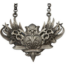 Kitsch N Kouture Knux And Stuff Necklace Gun Metal Wings Brass Knuckles Heart