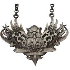 Kitsch N Kouture Knux And Stuff Necklace Gun Metal Wings Brass Knuckles Heart