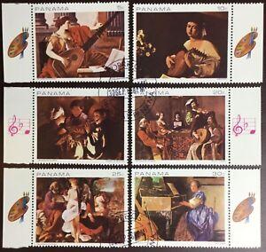 Panama 1968 Musical Paintings CTO Never Hinged