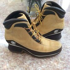 Timberland Tan and Brown Leather Lace Up Hiking Boots Shoes 8M 85370 0878 EUC!
