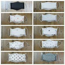 Masque en tissu lavable réutilisable 100% coton norme Afnor