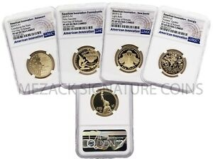 IN HAND 2019 American Innovation FIRST DAY OF RELEASE Proof 4-Coin Set NGC PF69