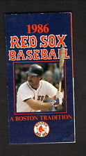 Wade Boggs--Boston Red Sox--1986 Pocket Schedule--Prudential Parking