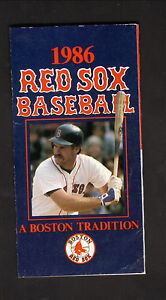 Boston Red Sox--Wade Boggs--1986 Pocket Schedule--Prudential Parking