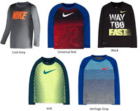Nike Little Boys Dri Fit Long Sleeve Tee Shirt Choose Size and Color