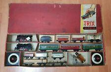 Trix Express Zugpackung von 1938 mit 2 Loks, Wagen und Zubehör - Sehr rar