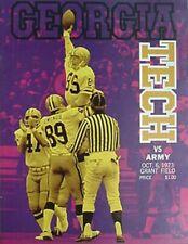 1973 GEORGIA TECH v ARMY FOOTBALL PROGRAM (JIM ROBINSON, JIM OWINGS, TOM LANG CV