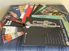 16 Various Trumpet music books some play along Cd books