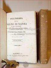 VIVENZIO, Nicola: STORIA del REGNO DI NAPOLI fino a Ferdinando IV 1827 2 volumi