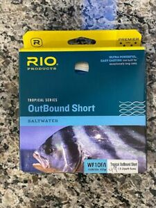 Rio Product WF10F/l Tropical Series OutBound Short Saltwater 1.5-2ips/4-5cms VWG