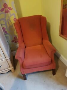 Pair of Ercol style Wingback Armchairs Liverpool Collection only.
