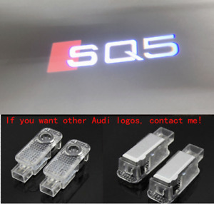 Audi SQ5 2X LED Light HD Logo Projector Emblem Ghost Shadow Door Welcome Light