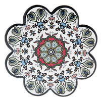Clayre & Eef Untersetzer Blüte  11 cm Keramik bunt Ethno Orient Marokko