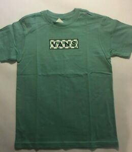 Vans New Easy Box Fill Canton Checkerboard Kids Short Sleeve T-Shirt Youth 5/M