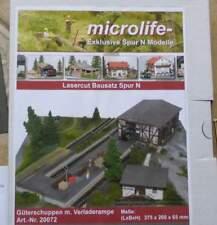 Güterschuppen con rampa carga-de Microlife Lasercut kit 1:160 pista n