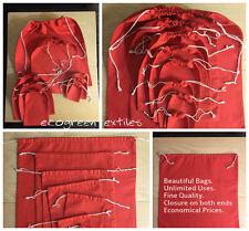 Red Cotton Bags Sizes 3x5 ,4x6 ,5x7 ,6x10 ,8x10 ,10x12 ,12x16,18x20 *By Dozen*