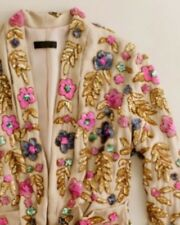 Rare Amazing J. Crew Collection Beaded Sequin Floral Jacket Blazer 4 Euc