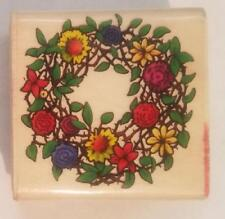 SKY KIDS RUBBER MOUNTED STAMP FLORAL WREATH
