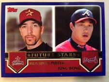 2003 Topps Future Stars #331 Brandon Puffer & Jung Bong Baseball Card VERY RARE