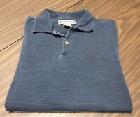 Men's Jamaica Jaxx SILK Shirt Short Sleeve Polo Blue Size LARGE L