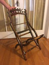 Antique 1875 E.H. Mahoney Folding Arm Chair Frame Victorian Carpet Bagger