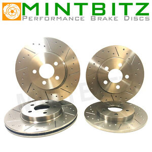 AUDI A3 QUATTRO 3.2 03 Dimpled & Grooved BRAKE DISCS FRONT REAR