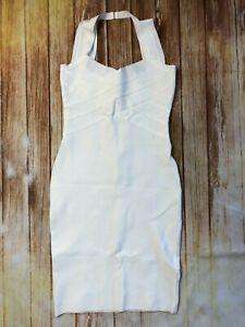 Herve Leger Bodycon Bandage Dress white A349 *S