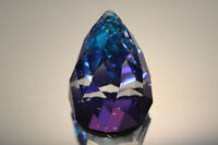SWAROVSKI CRYSTAL RIO CONE PAPERWEIGHT 7452 NR 060 RETIRED BERMUDA BLUE MINT