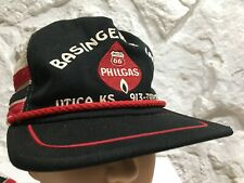 Vintage 3 Stripes Phillips 66 Philgas Made in USA Snapback Trucker Farm HAT Used