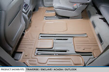 MAXFLOORMAT All Weather Custom Fit Floor Mats Liner Second Row for SUV (Tan)