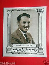 actor figurines figurine attori ringer's cigarettes cards #19 bryant washburn ss
