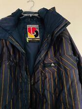 Burton Men's -Sz S Gray Stripe Dry-Ride Snowboarding Coat Jacket