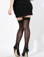 Bas couture cuban heels noirs SEXY pour porte jarretelles rétro pinup glamour
