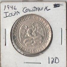 1946 Iowa  Centennial Silver Half Dollar, FREE SHIPPING
