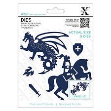 Xcut 4pc set plantillas CABALLERO & DRAGON + escudo Utilizar en Xcut sizzix