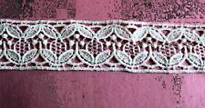 "Victorian Venise Lace Trim Satin Trim 1-1/4""  Scrapbooking Craft 5yd.  E15v"