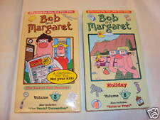 Lot 2 Bob and Margaret Vol 3&6 Tale Two Dentist/Holiday VHS Brand New