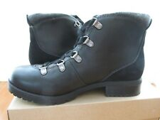 Clarks Leather Water Resistant Hiking Boots - Faralyn Alpha- Black 9.5 MED