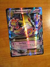PL MEGA Pokemon M ALAKAZAM EX Card FATES COLLIDE Set 26/124 XY X Y Ultra Rare